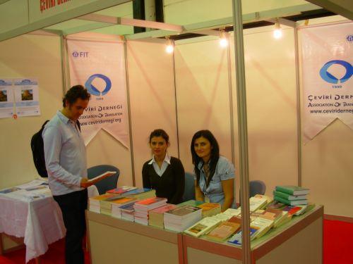 Çeviri Derneği Tüyap Fuarı'nda derneğin yayınlarının yanısıra, çeşitli çeviribilim yayınlarından bir seçmeyle birlikte yer alıyor.