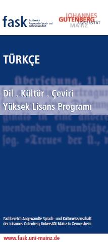 Yurtdışından örnek bir yüksek lisans programı: Dilek Dizdar ve Şebnem Bahadır'ın Mainz Üniversitesi'nde başlattıkları yüksek lisans programı.