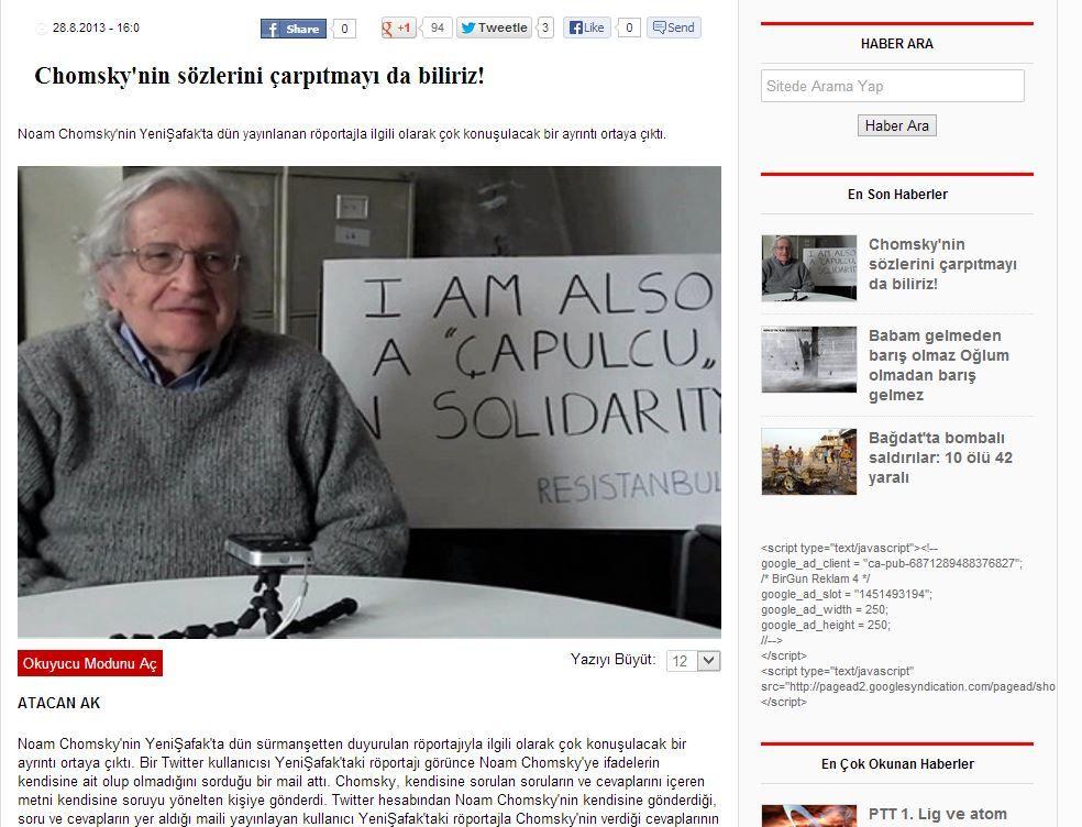 Birgün - Chomsky - 2