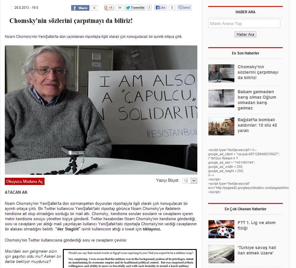 Birgün - Chomsky