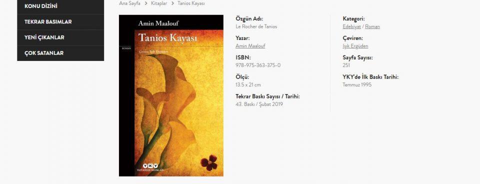 Çay Parasına Amin Maalouf – Işık Ergüden